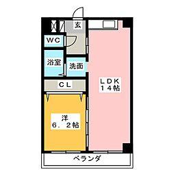 KAGUYAHIME[4階]の間取り
