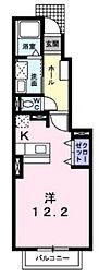 JR紀勢本線 相可駅 徒歩24分の賃貸アパート 1階1Kの間取り