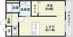 ルミー羽倉崎[2階]の間取り