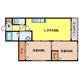 北海道札幌市北区北二十二条西5丁目の賃貸マンションの間取り