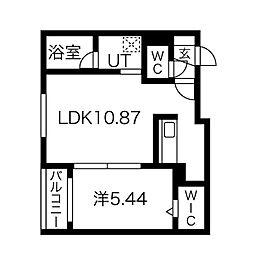 仮)シエル麻生 4階1LDKの間取り