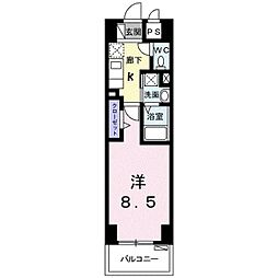 (DK)コンドミニアムShi Ro 7階1Kの間取り