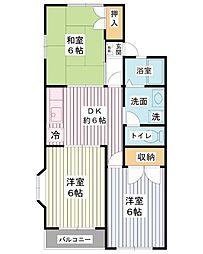 レジデンスMY[2階]の間取り