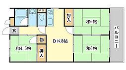 益田マンション[203号室]の間取り