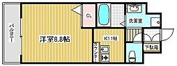 プレサンス神戸みなと元町[8階]の間取り