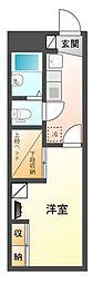 レオパレス星宮[1階]の間取り