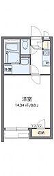 JR相模線 社家駅 徒歩21分の賃貸アパート 2階1Kの間取り