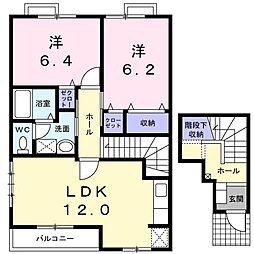 メゾン・アンソレイエI[2階]の間取り