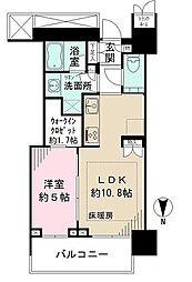 ザ・パークハウス晴海タワーズ クロノレジデンス 18階1LDKの間取り
