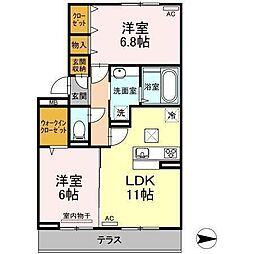 D-room吉藤(仮)[103 号室号室]の間取り