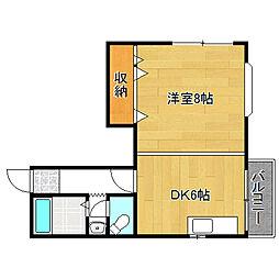 北村ビル[4階]の間取り