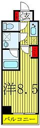 S-RESIDENCE赤羽 3階1Kの間取り
