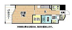 JR日豊本線 城野駅 徒歩5分の賃貸マンション 9階1Kの間取り