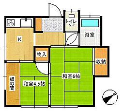 第一深沢荘[203号室]の間取り