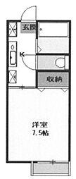 ラピス・K・津田沼[202号室]の間取り