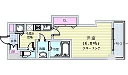 JR大阪環状線 芦原橋駅 徒歩4分の賃貸マンション 4階1Kの間取り