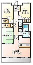 甲子園六石町ハイツ[3階]の間取り