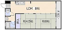 第2多田野マンション[1階]の間取り