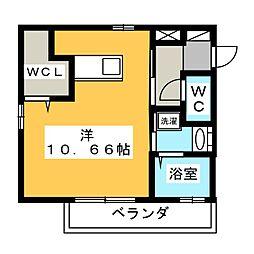 Est Koike 1階ワンルームの間取り