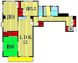 メッツレジデンス北松戸[4階]の間取り