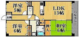 ローランド甲子園[2階]の間取り