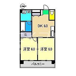 ヴィラ鯉ノ丸II[4階]の間取り