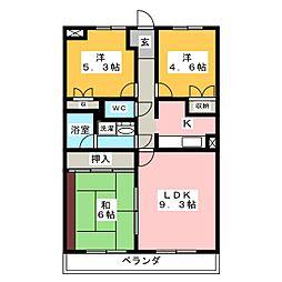 キャロットハウスA[3階]の間取り
