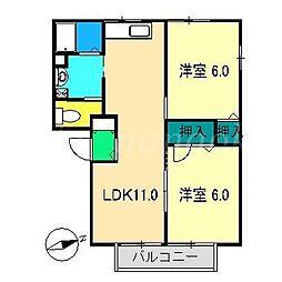 坂本ハイツ[1階]の間取り