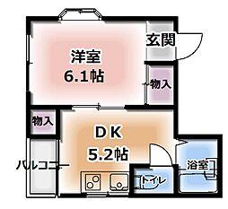 エクセル藤田[3階]の間取り