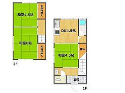 [テラスハウス] 兵庫県伊丹市荒牧3丁目 の賃貸【兵庫県 / 伊丹市】の間取り