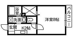 グリンルーフ B棟[2階]の間取り