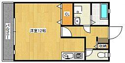 セゾンコート壱番館[1階]の間取り
