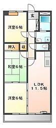 クレールメゾン[3階]の間取り