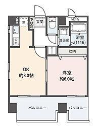 リブハピネス横浜[6階]の間取り