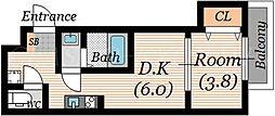 SOAR城東蒲生[2階]の間取り