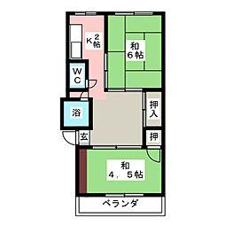 駅前第一センター(駅前第一住宅)[3階]の間取り