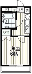 クライス伊藤[303号室]の間取り