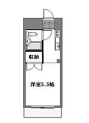 東京都目黒区鷹番1丁目の賃貸マンションの間取り