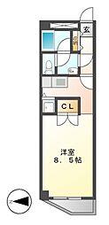 A-WING[5階]の間取り