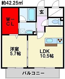 サンシャインタワー陣原[6階]の間取り