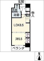 プラウランド堀田[5階]の間取り