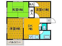 森ヶ丘第三マンション[3階]の間取り