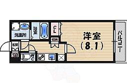 AMARE 甲東園 2階1Kの間取り