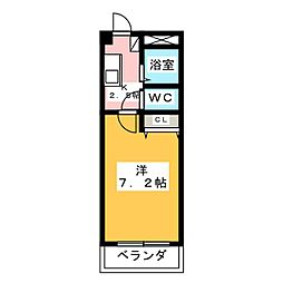 トリコロールハウス加藤[4階]の間取り