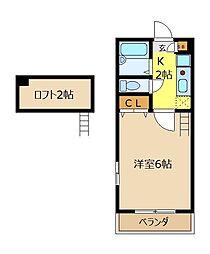 埼玉県志木市本町1丁目の賃貸アパートの間取り