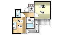 アメニティ東神戸4番館[3階]の間取り