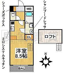 愛知県名古屋市千種区末盛通2丁目の賃貸マンションの間取り