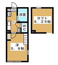 神奈川県相模原市南区上鶴間本町7の賃貸アパートの間取り
