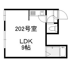 CUNA KOTONI[202号室]の間取り
