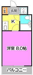 ラルゲット石神井[1階]の間取り